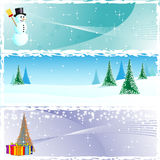 Three winter banners Royalty Free Stock Photo