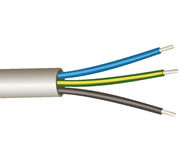 Three wire power cord Royalty Free Stock Image