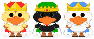 Three Wise Ducklings vector Royalty Free Stock Photo