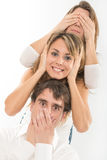 Three wise friends Royalty Free Stock Photo