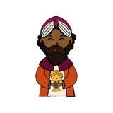 Three wise man cartoon Royalty Free Stock Photos