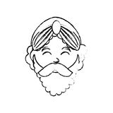 Three wise man cartoon Royalty Free Stock Images