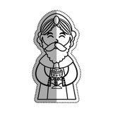 Three wise man cartoon Royalty Free Stock Photo