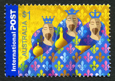 Three Wise Mean Australian Postage Stamp Stock Photography
