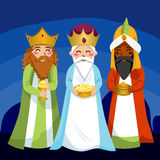 Three Wise Men. Bring gifts to Jesus on Christmas Stock Image