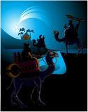 Three wise men. The three wise men and the child Jesus Royalty Free Stock Photos