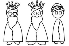 Three Wise Men. An illustration of the Three Wise Men, Melchior, Caspar and Balthazar Stock Photos