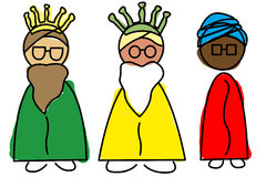 Three Wise Men. An illustration of the Three Wise Men, Melchior, Caspar and Balthazar Royalty Free Stock Image