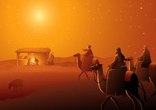 Free Three Wise Men Arrives Royalty Free Stock Photos - 133205418