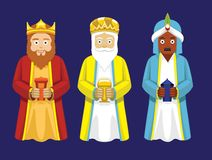Three Wise Men Cartoon Characters Illustration Royalty Free Stock Photo