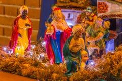 Three Wise Men. In Christmas Nativity scene Stock Photos