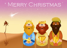 Three wise men in the desert Stock Photography