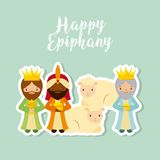 Three wise men design. Cartoon three wise men. happy epiphany design. vector illustration Stock Photography