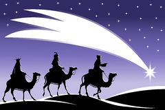 Three Wise Men Following the Star Stock Image