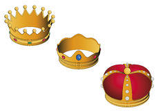 Three wise men golden crowns Royalty Free Stock Photo