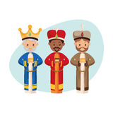 Three wise men icon. Merry Christmas design. Vector graphic Royalty Free Stock Photo