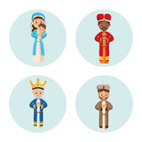 Three wise men icon. Merry Christmas design. Vector graphic Stock Photography
