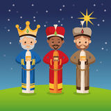 Three wise men icon. Merry Christmas design. Vector graphic Royalty Free Stock Photography
