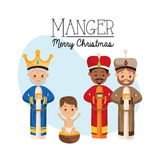 Three wise men icon. Merry Christmas design. Vector graphic Stock Photo