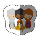 Three wise men. Icon vector illustration graphic Royalty Free Stock Images