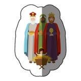 Three wise men. Icon vector illustration graphic design Royalty Free Stock Photo
