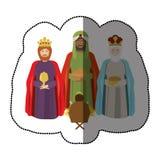 Three wise men. Icon vector illustration graphic design Stock Image