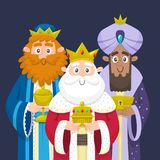 Three Wise Men three kings of Orient Portrait. Three Kings. Three wise men portrait. Melchior, Gaspard and Balthazar bringing gifts for Jesus. Vector vector illustration