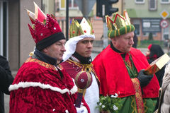 Three Wise Men Parade Royalty Free Stock Images