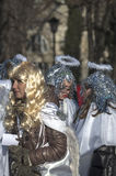 Three Wise Men Parade 2015. Warsaw, Poland - January 6, 2015: Streets of Polish capital during a traditional procession. Epiphany, known as Three Kings Day, is Stock Photo