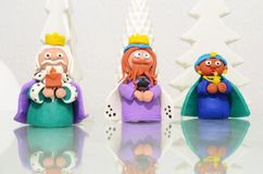 The toree wise men of. The three wise men of plasticine, Christmas stock image