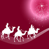 Three wise men silhouette Stock Photography