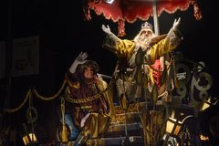 Three Kings` Night in Spain, 6th of January. Three Wise Men. In Spain it is Melchoir, Caspar and Balthazar, who bring Christmas presents to children who have royalty free stock photos