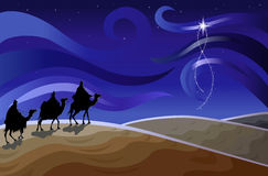 Three wise men and the star Stock Images