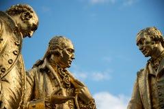 Three Wise Men. Statue of Matthew Boulton, James Watt, and William Murdoch by William Bloye, Birmingham, England Royalty Free Stock Photography