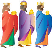 three wise men or three kings. Nativity illustration. vector illustration