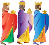 Three wise men or three kings. Nativity illustration. Stock Image