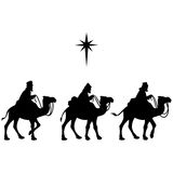 Three Wise Men. A vector illustration of 3 Wise Men Stock Photo