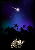 Three Wise Men are visiting Jesus Christ after His birth Stock Images