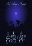 Three Wise Men are visiting Jesus Christ after His birth Royalty Free Stock Image