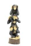 Three wise monkey. Vertical Three wise monkey on white background Stock Images
