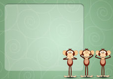 The three wise monkeys. An illustration of The three wise monkeys Royalty Free Stock Photo