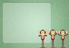 The three wise monkeys Royalty Free Stock Photo