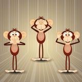 The three wise monkeys Stock Photos