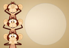 The three wise monkeys. Illustration of The three wise monkeys Stock Photo