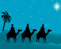 three wisemen card vector illustration