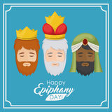 The three wisemen cartoon design Royalty Free Stock Photo