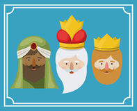 The three wisemen cartoon design Royalty Free Stock Photography