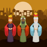 The three wisemen cartoon design Stock Image