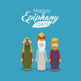 The three wisemen cartoon design Stock Photo