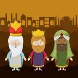 The three wisemen cartoon design Royalty Free Stock Image